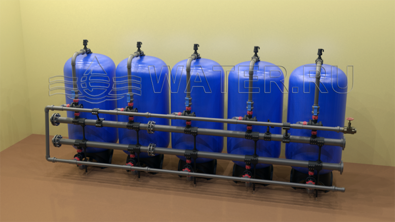 Промышленные фильтры засыпного типа 36х5